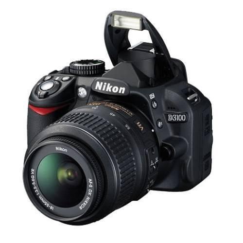 Camara Nikon D-3100 + Kit18x55 + 8gb + Bolsa + Tripé Full Hd