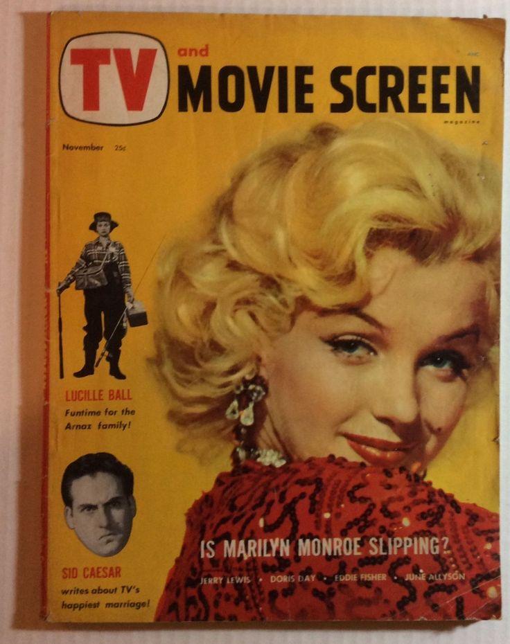 NOV 1953 MARILYN MONROE ON COVER GRADE GOOD - TV MOVIE SCREEN 78 PAGE MAGAZINE   eBay