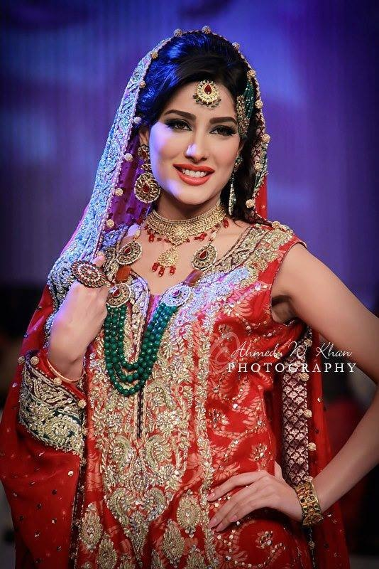 Mehwish Hayat in Pakistani Couture Bridal