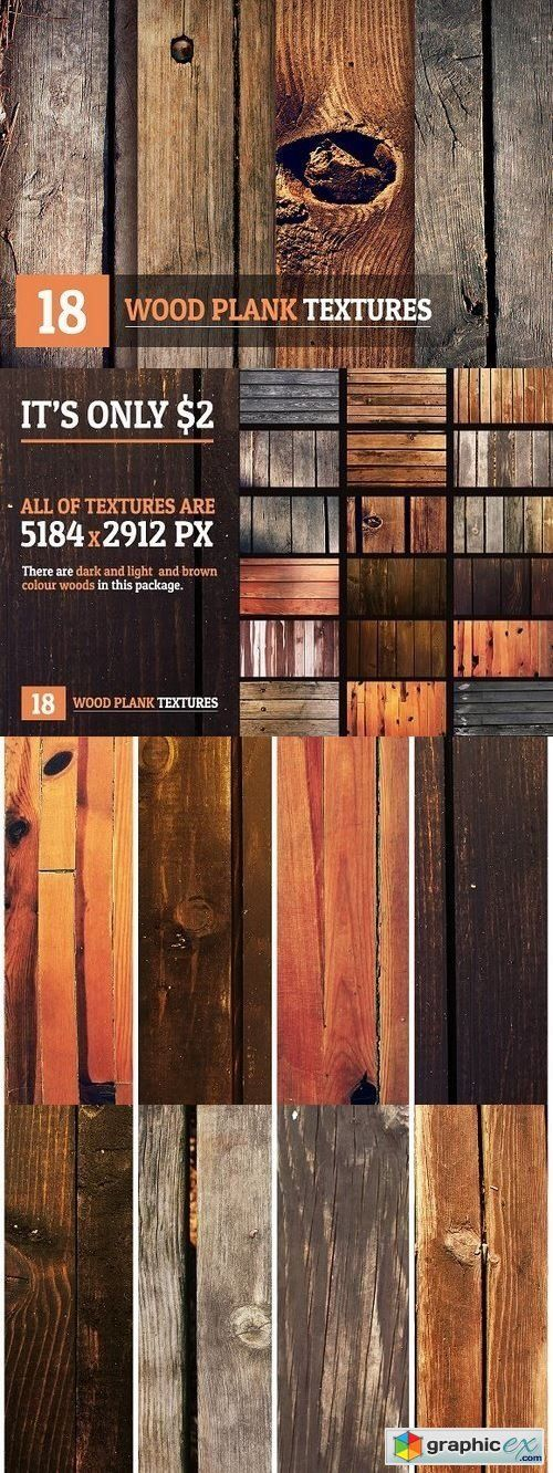 18 Wood Plank Textures  stock images