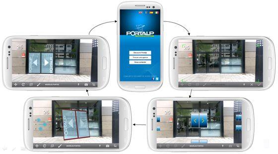 """Avisto a developpé une application en R.A. """"Portalp Live"""", pour la société Portalp spécialiste des portes automatiques."""