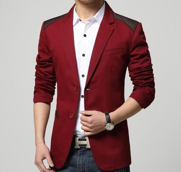 Men Casual Blazer with Double Button Details Instant savings at Amtify Direct. Fabric: Cotton Blend, Polyester Fit: Slim Fit Color Available: Black, Khaki, Red