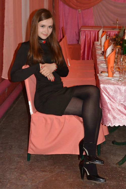 Opaque or sheer pantyhose with a dress