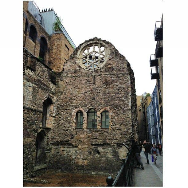 Vestige of medieval England in South Bank London