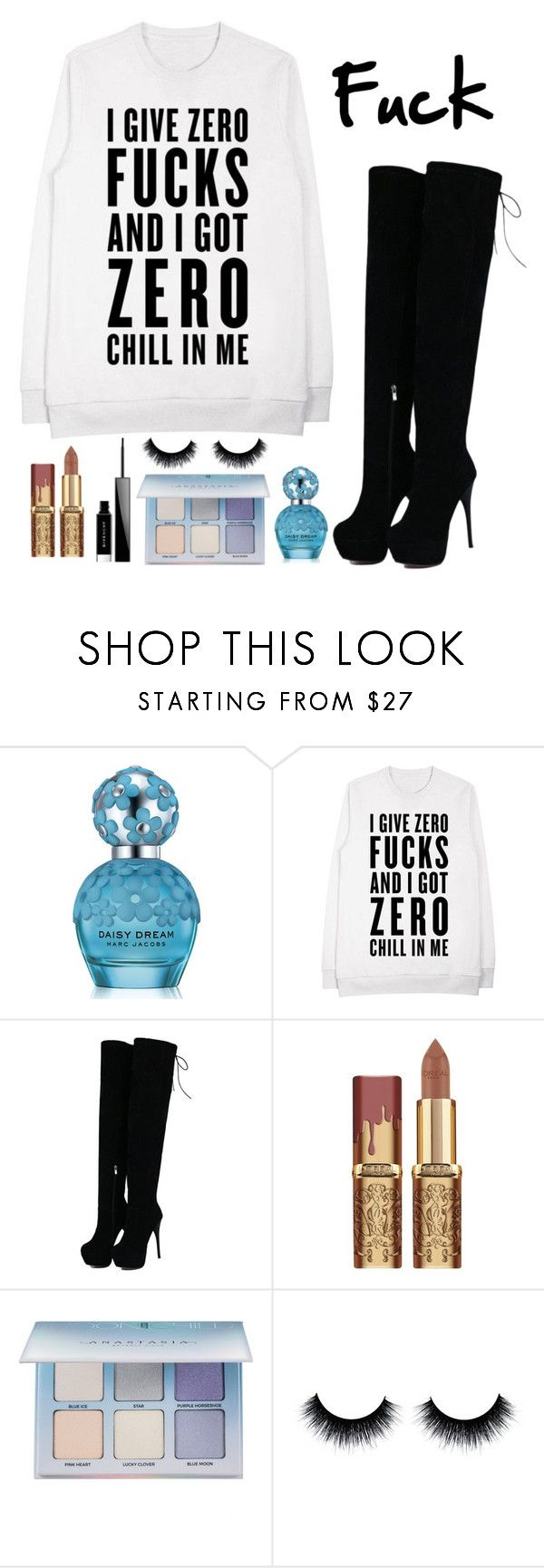 """""""I'm sorry for you babe"""" by arianabut1993 ❤ liked on Polyvore featuring Marc Jacobs, Anastasia Beverly Hills and Givenchy"""