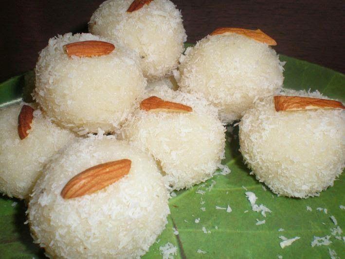 Rajugarivantalu (Andhra Telugu Vantalu): Andhra-kitchen-vantalu-instant-coconut-laddoo
