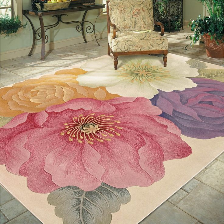 Nourison Tropics Rugs TS10 Multi Coloured - Free UK Delivery - The Rug Seller