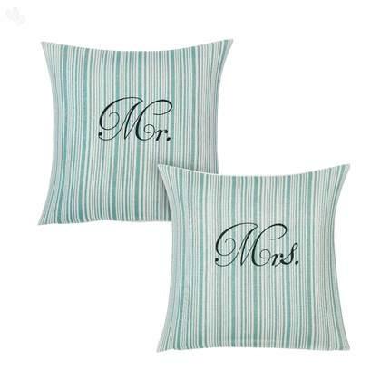 Mr. And Mrs. Monogrammed Cushion Covers #Valentines .zansaar.com · Cushion IdeasCushion CoversBusiness ...