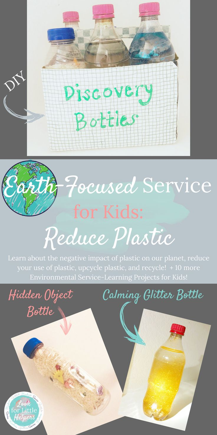 Whether it is #EarthDay or any other day of the year, we can do #communityservice projects with kids that teach them to love and care for their planet. This includes reducing your use of plastic and reusing or donating items rather than throwing them away! This post includes 35+ ways to reuse your plastic bottles, lids, and caps, in addition to 10 additional Earth-Focused Service Projects for Kids! #kindness #earth #nature #gratitude #growyourownfood #getoutside #diy #reuseplastic