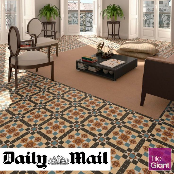 Create the ultimate statement hallway with our Dorset Marron tile, as seen in Daily Mail!