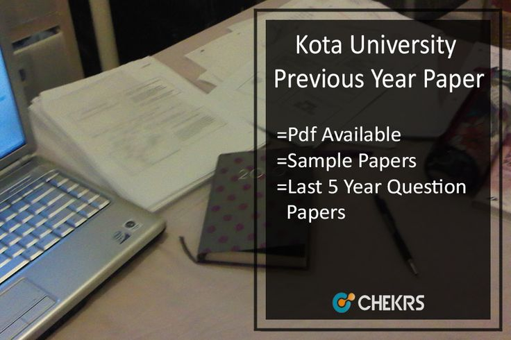 Kota University Previous Year Paper UOK Last Year/ Old Question Papers