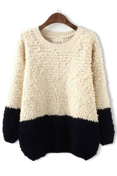 looks so soft // sweater // black & white // wool
