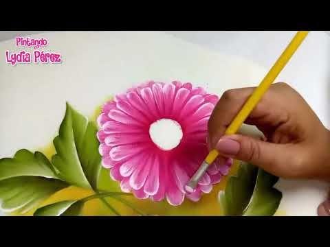 Aprende A Pintar De Forma Fácil Flores Gerberas En Color Rosa Con