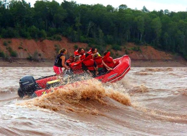 """Tidal-bore rafting on the Shubenacadie River is an unforgettable experience - you will get wet!"" Nova Scotia: the Bradt Guide www.bradtguides.com"