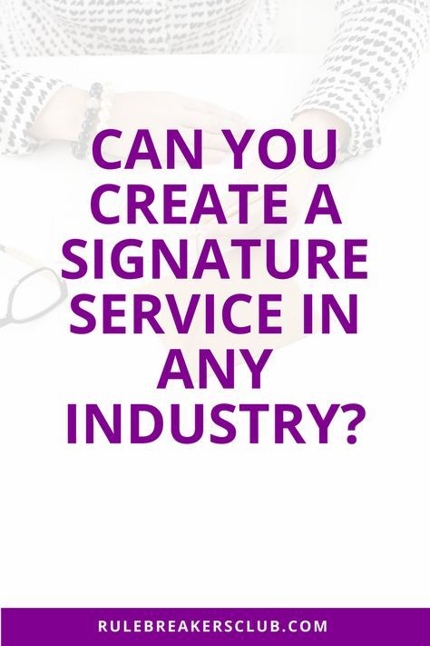 How to get more consistent clients by creating a signature service for your business.