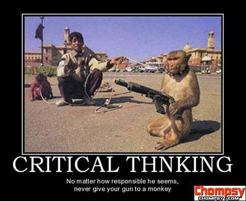 monkey with gun demotivational posters