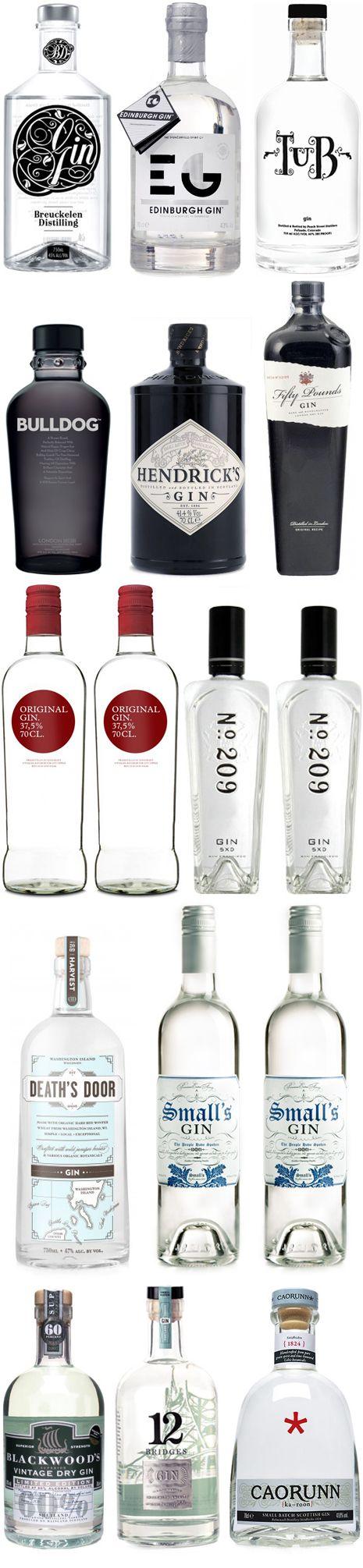 Gin bottles #happysipping