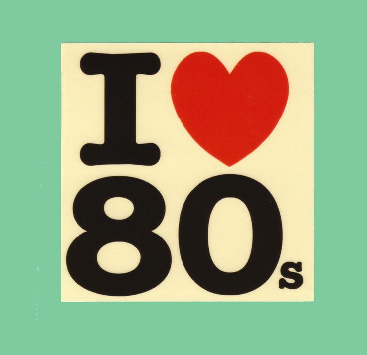 I love 80s transparent sticker bomb vinyl decal i heart eighties retro throwback