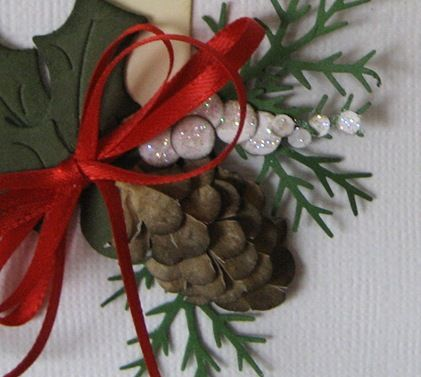 Pine cone made from pieces of scalloped oval, Martha S ...