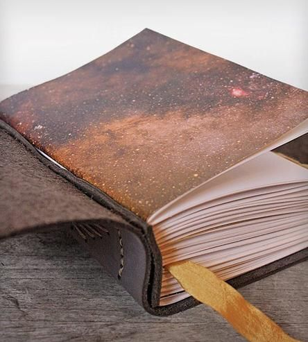 Starfield Handstitched Leather Journal