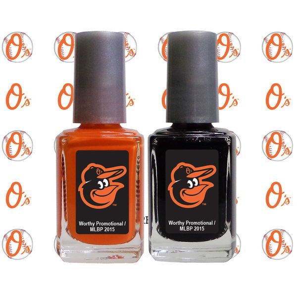 Baltimore Orioles 2-Pack Nail Polish with Nail Decal