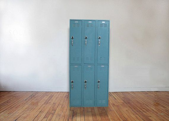 These Faded Blue Lockers Are The Perfect Storage Addition To Any Chic,  Organized Home,