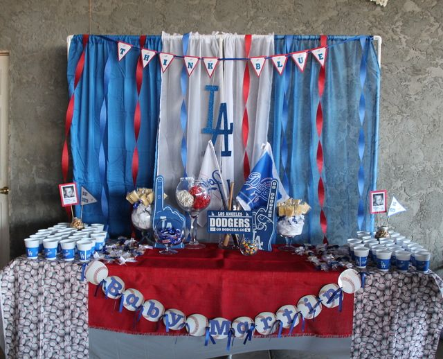 Baseball Baby Shower Party Ideas | Photo 1 of 8 | Catch My Party