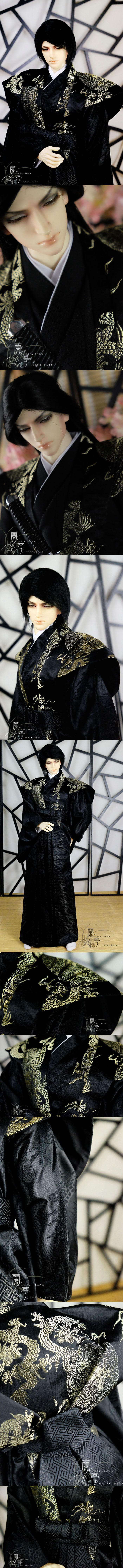 BJD Clothes Boy/Male Kimono [Qingcang] for 80cm/75cm/70cm/SD Ball-jointed Doll_CLOTHING_Ball Jointed Dolls (BJD) company-Legenddoll