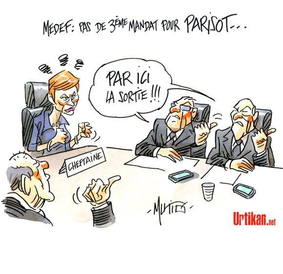 Medef: échec et mat pour Laurence Parisot - Dessin du jour - Urtikan.net