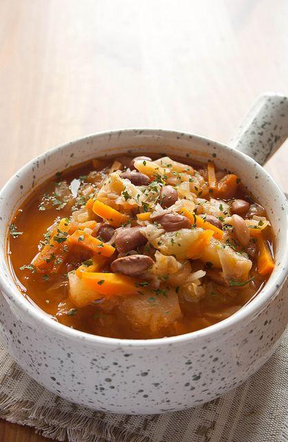 Рагу из сезонных овощей с фасолью