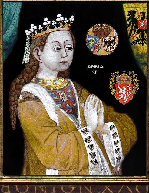 Anne of Bohemia, b.11 May 1366 d.07 June 1394, first wife of Richard II and Queen Consort.
