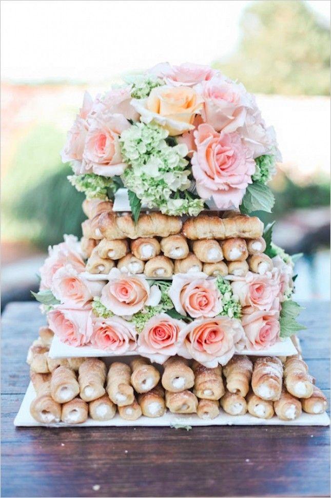 Low budget wedding cake  Van brownies tot soesjes, deze nieuwe bruidstaarten zijn vast en zeker kanshebbers voor je trouwerij. 1. Macarontaart. We weten het, het is natuurlijk niet echt een taart te noemen. Maar macarons. Dat zegt toch al genoeg?  2. Crêpetaart. Bij deze taart is een ombré-effect toegepast met de icing tussen de crêpes. Perfect voor de […]