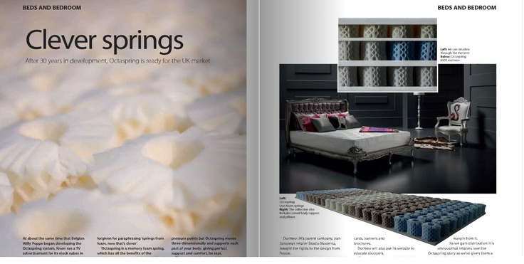 Article about Octaspring in leading UK trade journal, Cabinet Maker, from May 2012. http://octaspring.co.uk