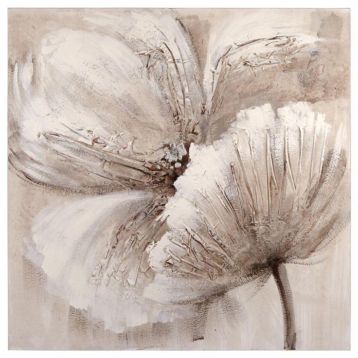 Tableau peinture l 39 huile florale tableaux d cor mural for Cadre floral mural