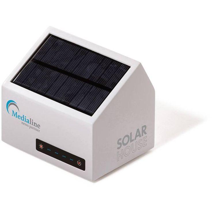 Powerbank bedrukken - Solar House batterij - LT91021 - DéBlé