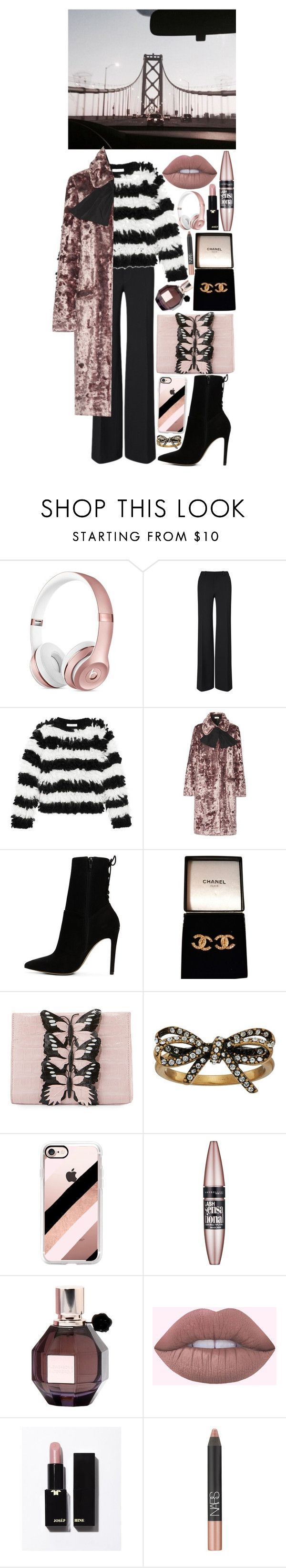 """caught in the middle"" by loveselena22 ❤ liked on Polyvore featuring Roland Mouret, MaxMara, Isa Arfen, ALDO, Chanel, Nancy Gonzalez, Marc Jacobs, Casetify, Maybelline and Viktor & Rolf"