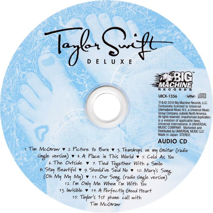 Caratula Cd de Taylor Swift - Taylor Swift (Deluxe)