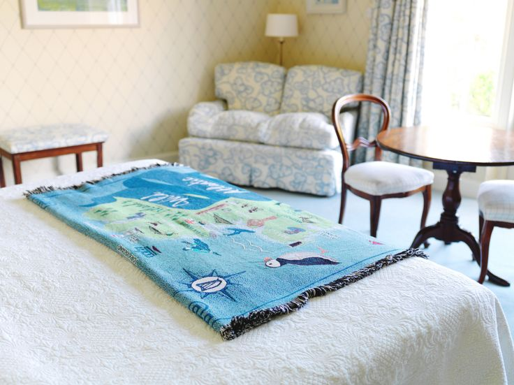 Ireland's Wild Atlantic Way throw blanket - fold it at the foot of your bed.
