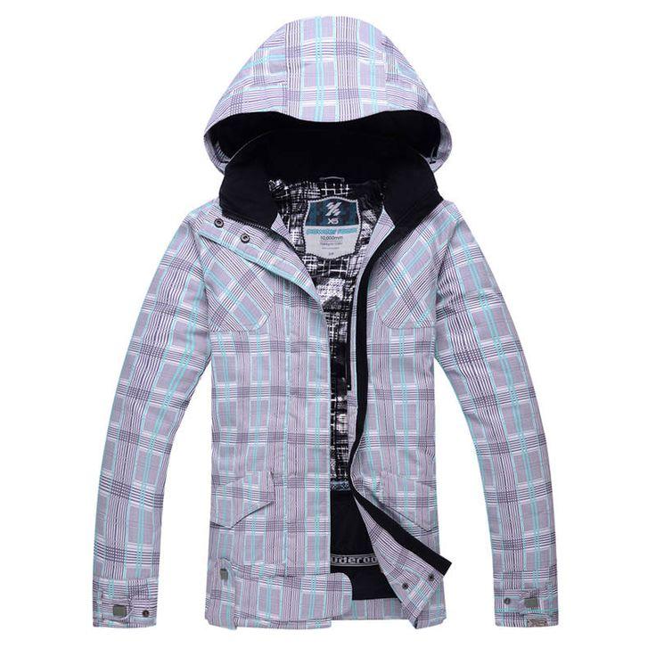 Cheap girl snow jacket women Snowboarding clothing Outdoor sports Costumes Waterproof Warm female snow coats ski jacket