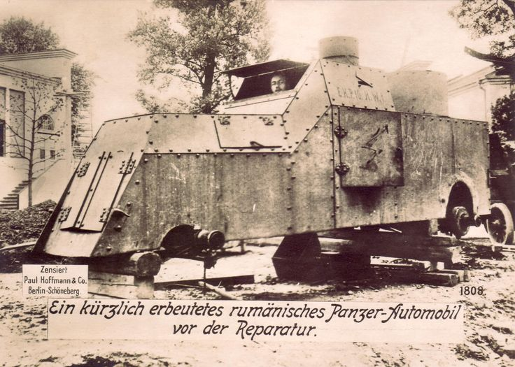 Romanian Armored Car in reparation.