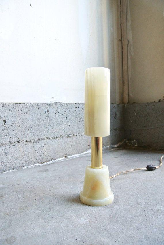 Vintage Onyx Table Lamp Vintage Marbled Onyx By