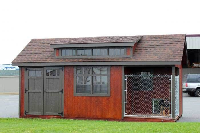 11 best dog kennels images on pinterest dog kennels for Dog kennel shed combo plans