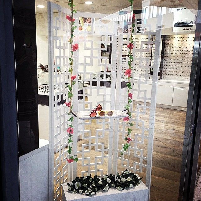 """""""Our new floral swing at our Treetops store looks so pretty!"""""""