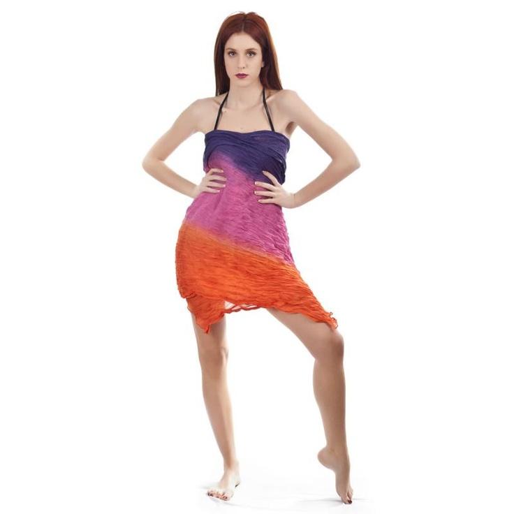 Παρεό Γυναικείο Senza Purple-Fucshia-Orange - BeMine.gr
