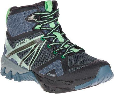 Merrell Women s MQM Flex Mid WP Hiking Boots Grey Black 11  f7b306bd34
