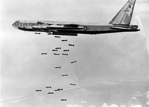 B52 dropping bombs vietnam war pinterest