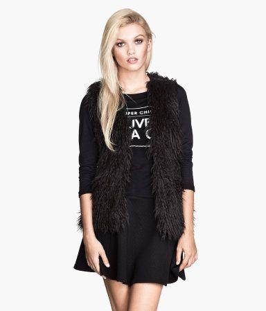 H&M Faux Fur Vest $39.95