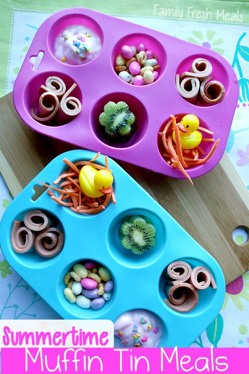 This is such an awesome idea! How to make eating fun! It can be so hard to get my 4 year old to eat, but I think she would really like this. May have to be on the look out for some little cookie cutters and silicone muffin tins. I especially like the little nest for the duck!