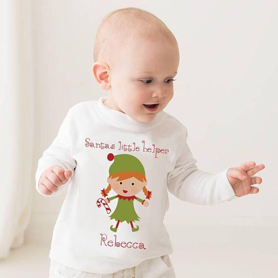 Santas Little Helper Christmas jumper  personalised T-shirt