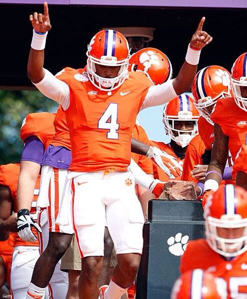 Deshaun Watson, Clemson Tiger Pride!!   Like my facebook page for exercise tips, support, and recipes.  https://www.facebook.com/letsbefit43/?ref=aymt_homepage_panel